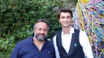 Luca Parrino, CEO LPR e l'artista Paolo Treni